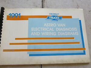 1991 Chevrolet Astro Van Service Manual Electrical Wiring ...