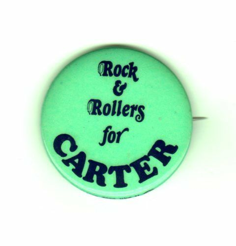 Jimmy Carter Campaign Button Rock /& Rollers for Carter