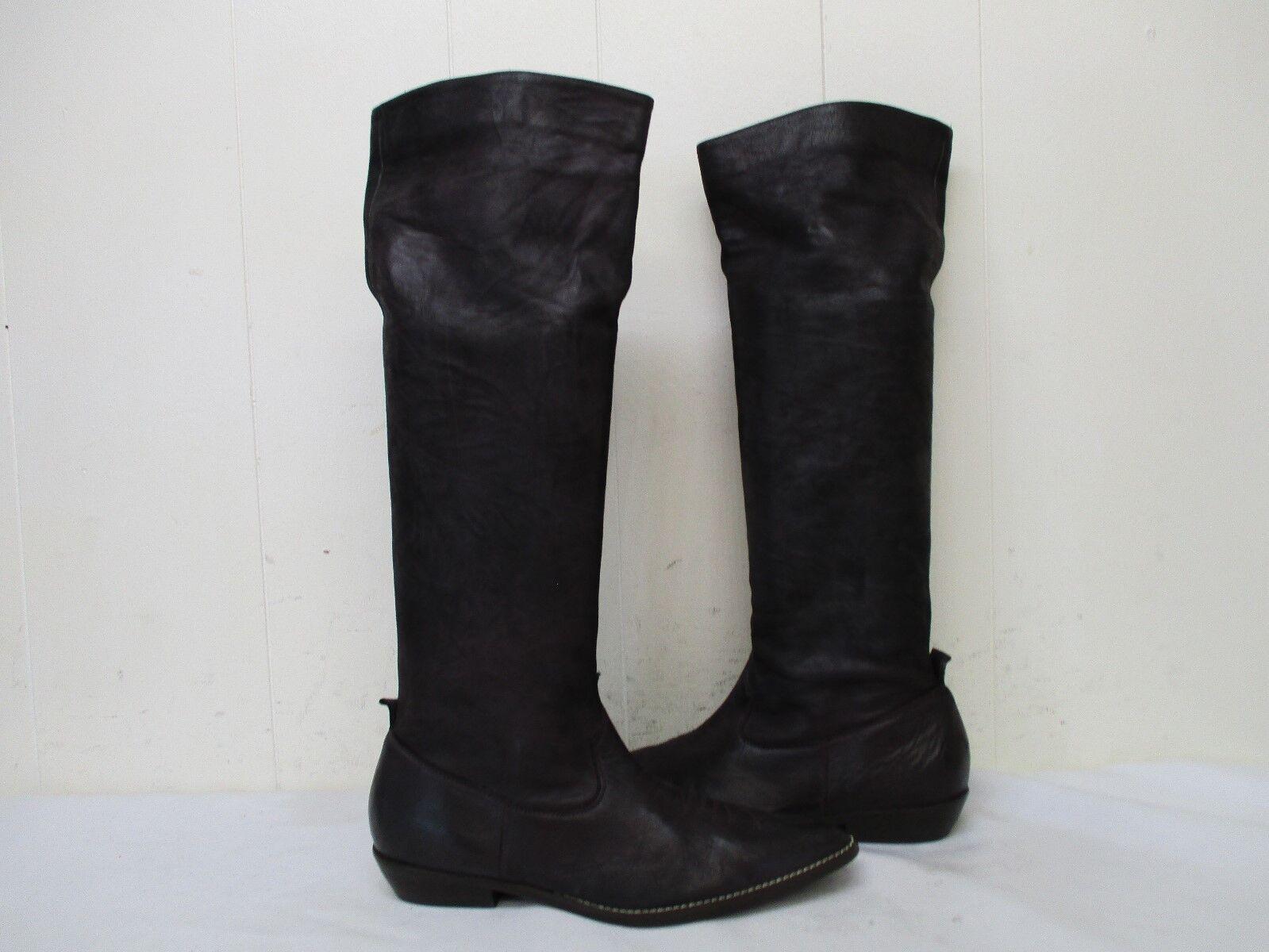 DONALD J PLINER Western Couture Brown Leather Cowboy 6 Fashion Boots Womens Sz 6 Cowboy M 12d69b