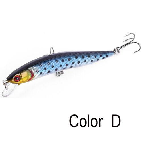 10cm//8g Crankbait Minnow Wobbler Fishing Lure Bionic Bait Plastic Hard Crank
