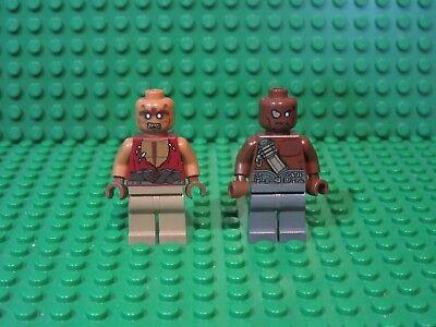 Lot of 2 Pirates Caribbean Lego Zombie Gunner yeoman Minifigures Minifigs 4191