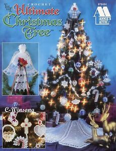 Angel Ornaments For Christmas Tree.Details About The Ultimate Christmas Tree Angels Ornaments More Crochet Pattern Booklet New