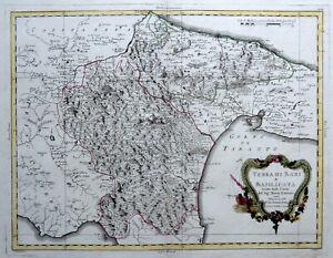 Bari Cartina Geografica.Puglia Basilicata 1783 A Zatta Carta Geografica Mappa Originale Antica Bari Ebay