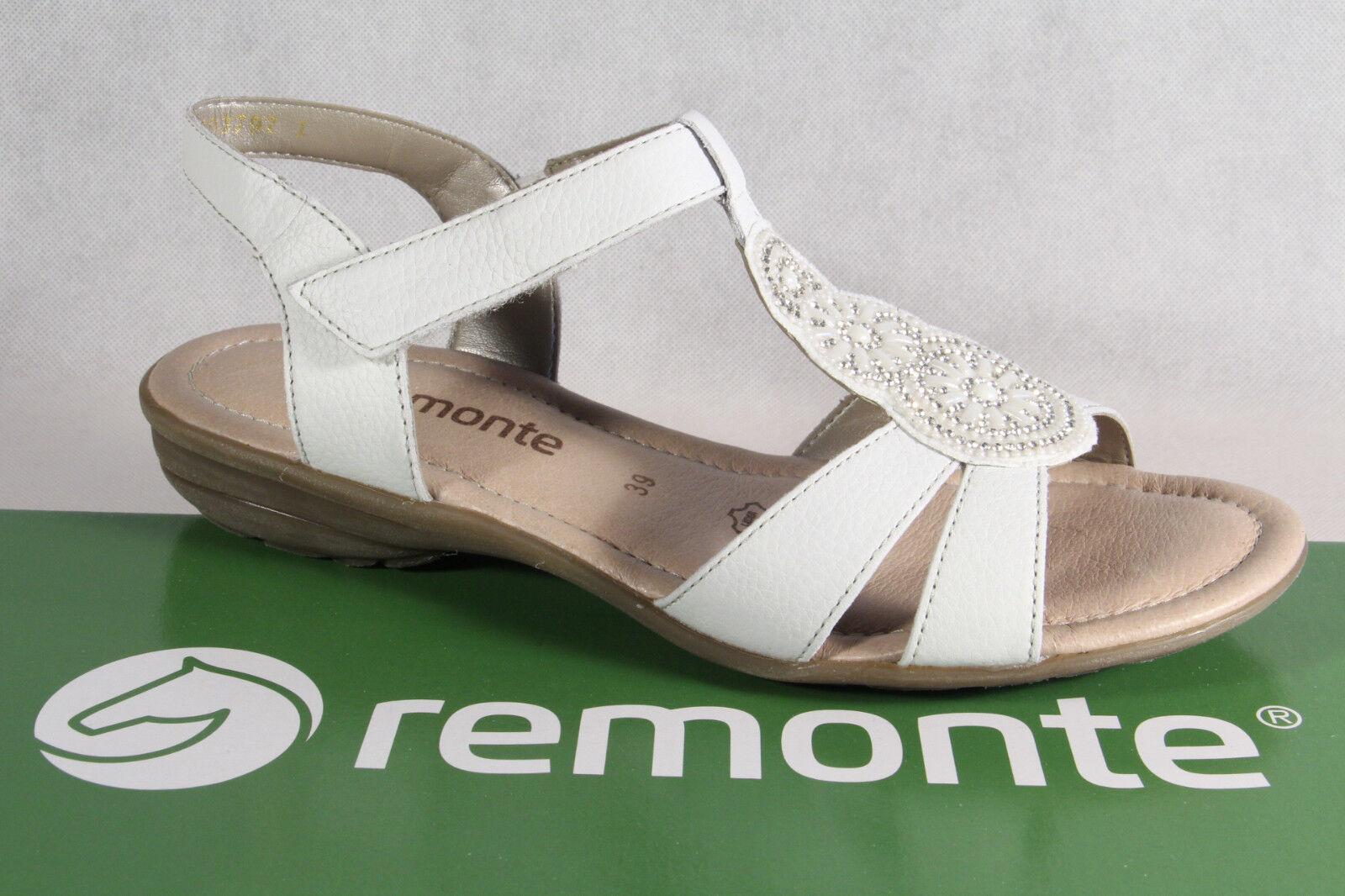 Remonte Sandalee Sandaleetten Sandaleette weiss Lederinnensohle Echtleder NEU