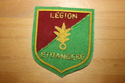 FRENCH ARMY FOREIGN LEGION WIRE POCKET BADGE BULLION WIRE LEGION ETRANGERE