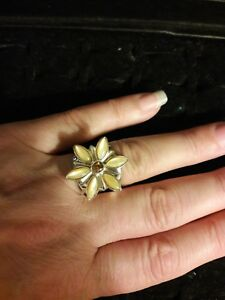 Jay-King-DTR-Mine-Finds-Citrine-Flower-Ring-Size-6-5-SIGNED