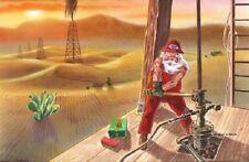 25 Christmas Cards,Santa caps Oil Well,Houston,Dallas,Texas,Oklahoma,Gulf States