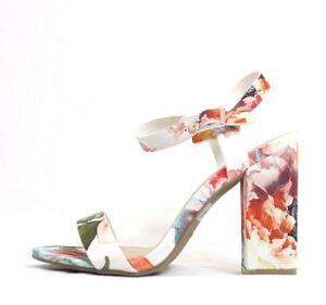 96bd35ac84bf La foto se está cargando Multi-Colored-Floral-Vestido-De -Punta-abierta-Zapatos-