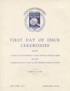 UXC9-8c-Stylized-Eagle-w-UN-Air-Postal-Card-First-Day-Ceremony-Program