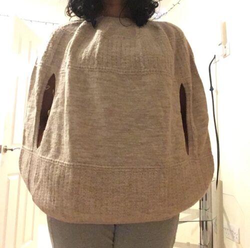 Maglieria Size Cocoon pelle di pecora celtica beige Cape Rare Abbigliamento di Vgc S XwxfxA