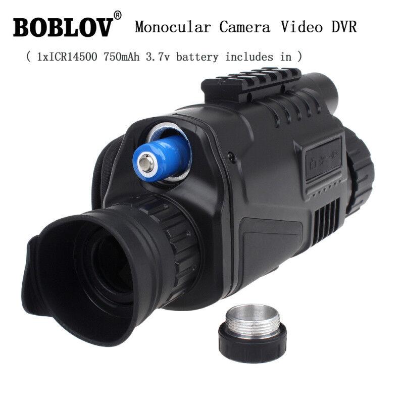 BOBLOV Monocular Visión Nocturna IR Cámara Digital 500MP alcance de vigilancia de caza