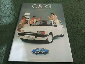 Mar-1985-FORD-ALL-MODEL-CATALOGUE-Fiesta-Escort-Capri-Sierra-Granada-UK-BROCHURE