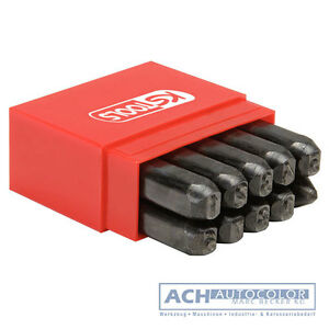 Ks-Tools-156-0467-Zahlen-Pragestempel-Satz-10-Pcs-Box