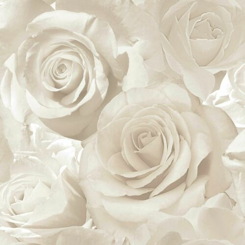 MURIVA MADISON ROSE GLITTER WALLPAPER LUXURY FLORAL FLOWERS 5 COLOURS