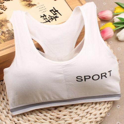 Kid Girls Crop Top Sport Dance Bra Tops Teens Gym Yoga Tank Vest Shirt Underwear