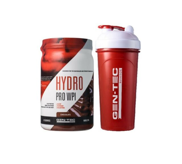 Gentec Nutrition Hydro Pro WPI 2lbs 908g Whey Protein Isolate Gen-Tec / Iso 100