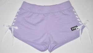 23072beaef NWT VICTORIA S SECRET PINK PURPLE WHITE CRISS CROSS LACE UP SIDE ...