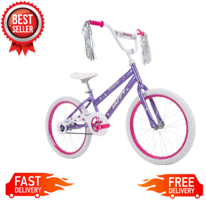 """Huffy 20/"""" Sea Star Girls Bike for Kids 5 to 9 yrs Rider Ht 44 to 56 in Purple"""