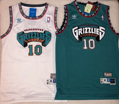 promo code cea8a bad22 Mike Bibby #10 Hardwood Classics Throwback Vancouver Grizzlies Teal/White  Jersey   eBay
