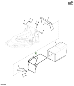 Genuine-John-Deere-R47-Lawnmower-Grassbox-Frame-SAA11673-SA1783-PC14204