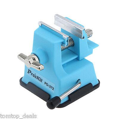 Brand ProsKit Manual Tool PD-372 Mini Vise Bench Zinc Plated Handle Locking Bolt