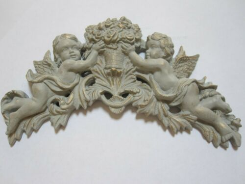 LARGE SHABBY CHIC CHERUBS//  FLOWERS  PLASTER FURNITURE//// WALL PLAQUE MOULDINGS