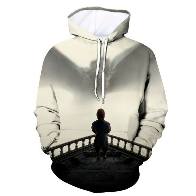 New Game of Thrones Jon Snow Khaleesi Cool 3D Hoodie Casual Pullover Size S 6XL