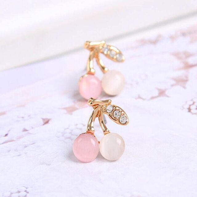 Opal Stone Multicolor Ear Stud Cherry For Women Girls Jewelry Wedding Earring
