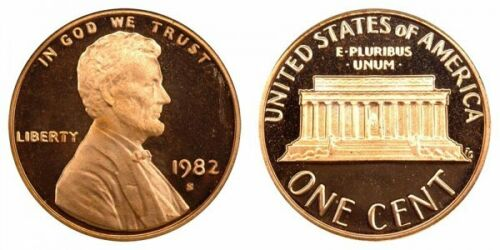 1982 S PROOF** LINCOLN CENT