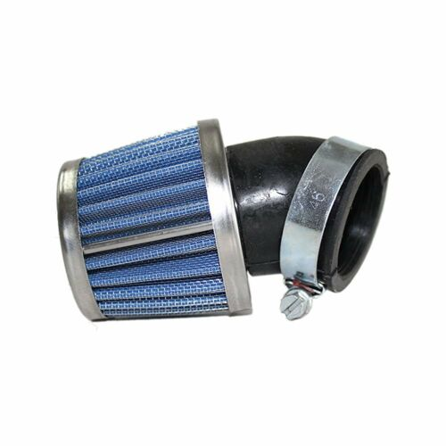 Universal Air Filter Blue 35mm Bent Long Cone
