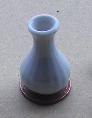 Escala 1:12 Jarrón de cerámica blanco 3.1cm alta tumdee Ornamento De Casa De Muñecas Flor W123