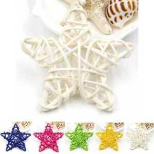 5Pcs-6CM-xmas-Decorations-Ornaments-Hanging-Christmas-Home-DIY-Rattan-Stars-New