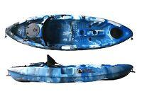 Sit On Top Fishing Kayak Canoe Galaxy Grayling - Blue Camouflage