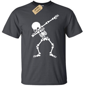 6445e1caa76ee Kids Boys Girls DABBING SKELETON T-Shirt dab children's top | eBay