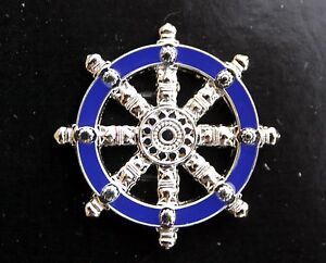 BUDDHIST-LAPEL-HAT-PIN-Wheel-of-Dharma-RELIGION-US-AIR-FORCE-CHAPLAIN-TIE-TAC