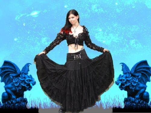Gothic Mittelalter Steampunk Burlesque Bluse Top Spitze Ärmel Neniel 36-40 Neu