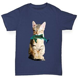 Twisted-Envy-Boy-le-chat-mange-SHARK-Drole-T-shirt-en-coton