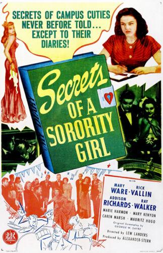 Movie Poster Secrets of a Sorority Girl 1945