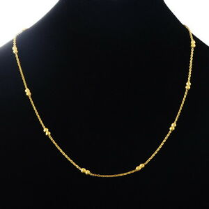 Fashion-Stainless-Steel-Cross-Chain-Gold-Plated-Necklace-49-9cm