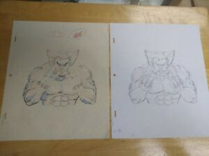 VINTAGE-X-MEN-Animation-WOLVERINE-OPENING-CREDITS-Layout-Animated-series-art-lot
