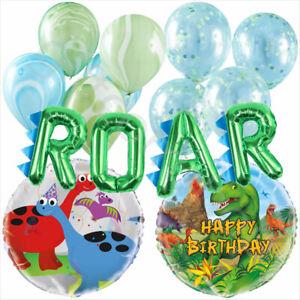Verde-Dinosauro-Festa-Palloncini-Bambini-Festa-Di-Compleanno-Forniture-Decorazioni