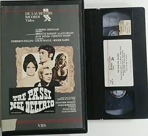 Tre-passi-nel-delirio-Fellini-Malle-Vadim-VHS-ex-noleggio-Ricordi