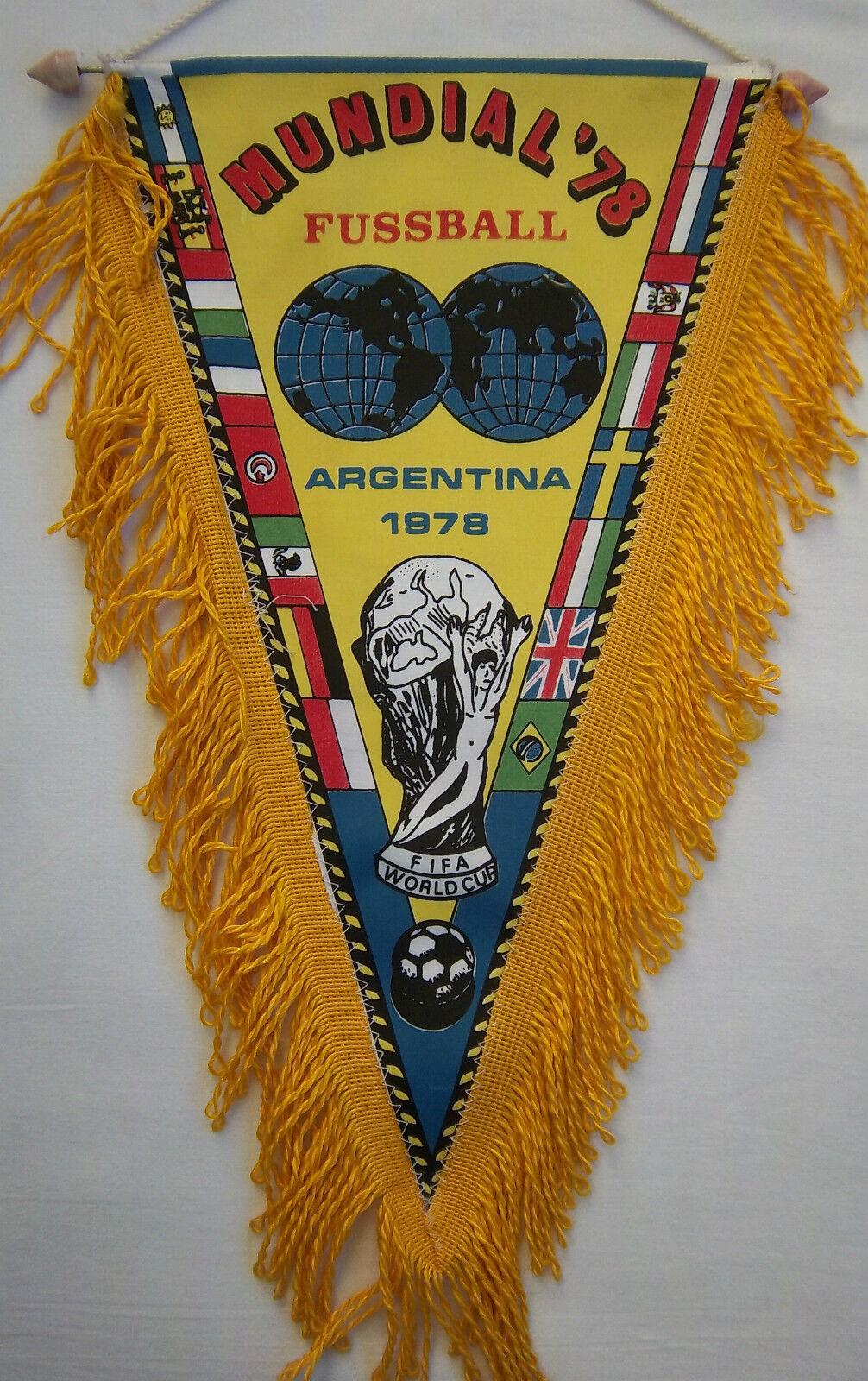 Orig.Wimpel    WM ARGENTINIEN 1978  //   alle Team`s - 41 cm       EXTREM SELTEN 63dd56