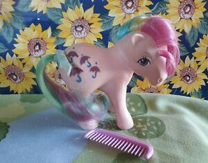 ❤️My Little Pony G1 Vintage 1983 Rainbow Ponies PARASOL Glitter Umbrellas❤️