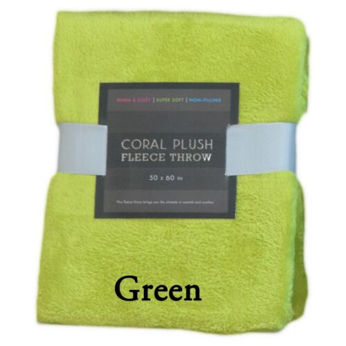 Super Soft 50in x 60in Plush Fleece Throw Blanket Bright Colors