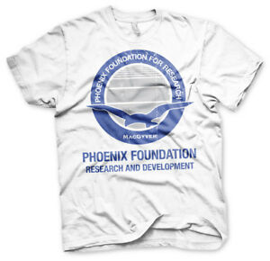MacGyver-Phoenix-Foundation-For-Research-Logo-Maenner-Men-T-Shirt-Weiss-White