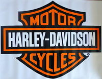 Harley Davidson Orange Bar & Shield Extra Large Trailer Decal Sticker