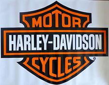 Harley Davidson Orange Bar & Shield Extra Large Trailer Decal Sticker