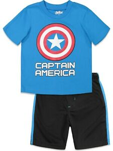 NWT MARVEL AVENGERS CAPTAIN AMERICA  BOY CLOTHES  T-SHIRT SIZE 2T 4T 3T