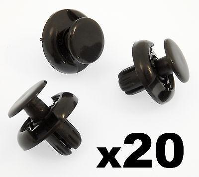 20x Mitsubishi Kunststoffnieten für Spritzschutz